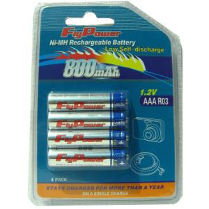 Ni-MH 1.2V AAA800mAh Low Self-Discharge Rechargeable Battery Ready to Use (FH-AAA800RTU)