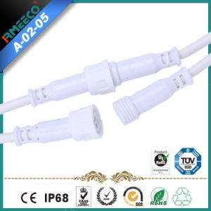 M11 Waterproof Cable Assembly with Circular Connector 3 Pins with White Color