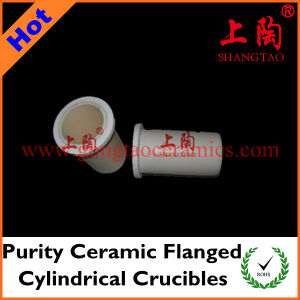 Purity Ceramic Flanged Cylindrical Crucibles pictures & photos
