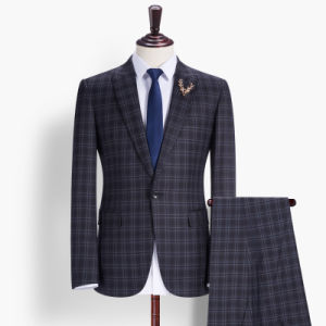 New Arrival Black Checks Fashion Korean Suit for Men pictures & photos