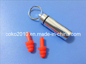 Soft Earplugs En352 Proved Christmas Tree Silicon Earplugs with Metal Tube pictures & photos
