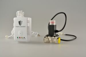 Home Natural Gas Leakage Alarm with Solenoid Valve for Kitchen Security
