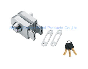 Dimon Sliding Glass Door Lock Single Door Double Cylinder Central Lock with Knob (DM-DS 65-4A)