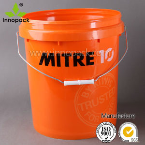 Plastic Bucket, 20L Paint Bucket, White Plastic Pail with Handle pictures & photos