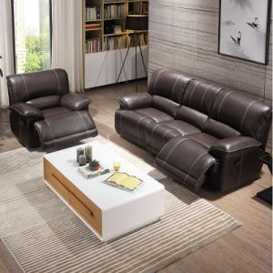 Modern L Shape Recliner Sectional Leather Function Sofa For Living Room