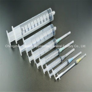 Latex Free Disposable Luer Lock 3 Parts Syringe with Needle CE, ISO pictures & photos