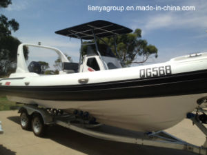 Liya 24.6FT Inflatable Rib Boat Hypalon Rigid Inflatable Boat pictures & photos