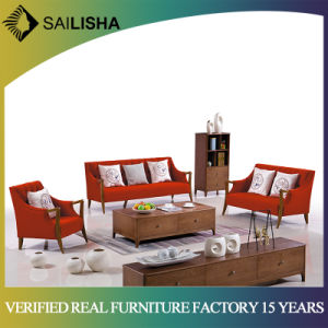 Solid Wood Furniture Modern Contemporary Fabric Sofa & Loveseat Set, 3  Piece Sofa Set (Red)