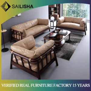 Modern Luxury Living Room Furniture Chinese Contemporary Real Leather  Sectional Sofa