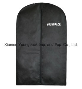 Custom Printed Black Non-Woven Travel Garment Bag pictures & photos