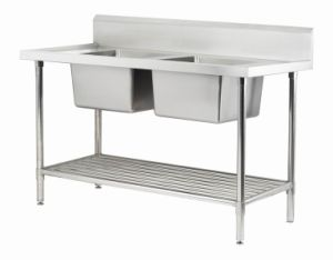 Stainless Steel Double Kitchen Sink (TJ-DSB)