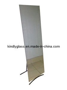 Frameless Stand Mirror with Wave Edge