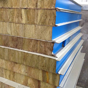 RW-950-75 Rock Wool Sandwich Panel for Building Materials pictures & photos