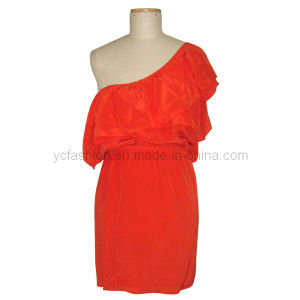 Ladies Silk Solid Dress