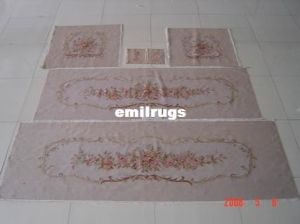 Wool And Silk Aubusson Sofa Set Covers