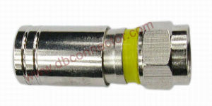 OPT-CPS-5 Yellow RG6 RG59 Compression Connector