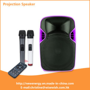 Professional Plastic Active LED Projection Speaker - Projector