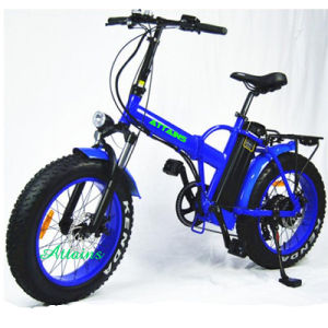 48V 500W 20′′ Foldable E Bike Folding Fat Tire Beach Snow Electric Bike pictures & photos