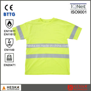 a39c65fbf7b1 China En11612 High Visibility Modacrylic Cotton Fr Short Sleeve T ...