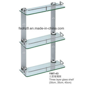 High Quality Bathroom Stainless Steel Glass Towel Shelf (YMT-A43) pictures & photos
