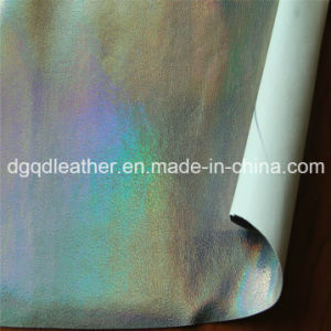 Double-Sided PU Shoes Leather (QDL-SP024) pictures & photos