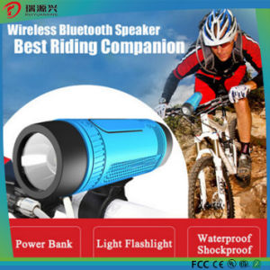 Bike flashlight with Power bank and bluetooth speaker