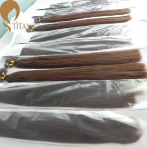 Factory Whoelsale Brazilian Virgin Remy Keratin Human Hair Extension
