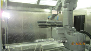 Dustfree Robotic Spray Coating Booth for Car Spare Parts pictures & photos