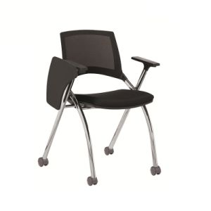 Folding Office Chair with Writing Pad