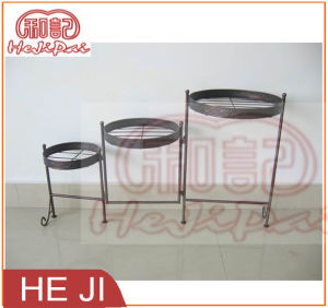 Three Planter Holders Foldable Planter Stand