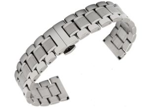 Hot Sale Classic Solid Stainless Steel Men's Watch Band 5 Beads Fold Clasp Different Colors Watch Strap for Longines Link Bracelet