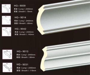 White Polyurethane PU Foam Crown Cornice Moulding