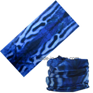 Multifunctional Blue Seamless Polyester Tubular Headwear pictures & photos