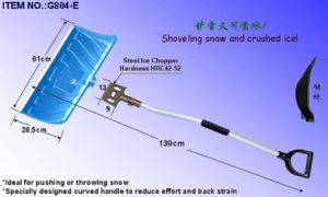 Ice Chopper and Snow Pusher with Ergonomic Metal Handle