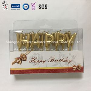 Unsented Different Color Paraffin Wax Happy Birthday Candle pictures & photos