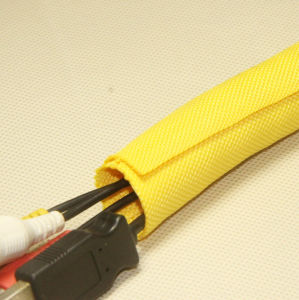 Woven Wrap Aroud Fiiber Optic Cable Wrap for Cable Management pictures & photos