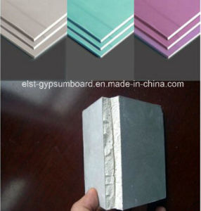 Waterproof Gypsum Board/Gypsum Board with Best Waterproof Performance 1200*2400*12mm pictures & photos