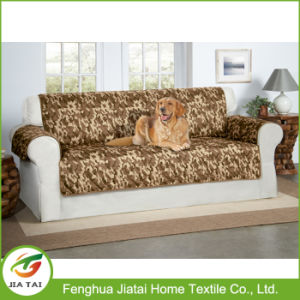 Custom Quilted Furniture Protector Plain Dyed Sofa Cover for Pet Dog Children Kids