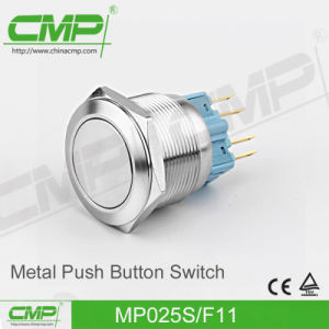 Vandal Resistant Momentary Push Button Switch (25mm, Flat Head, 1no1nc) pictures & photos