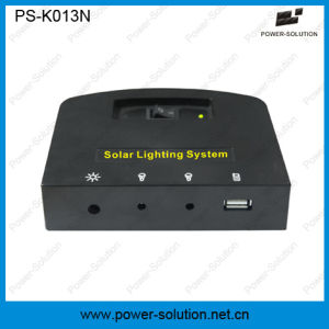 4W 11V Solar Panel Portable Home Solar Lighting System with 2 Lights Mobile Phone Charger (PS-K013N) pictures & photos