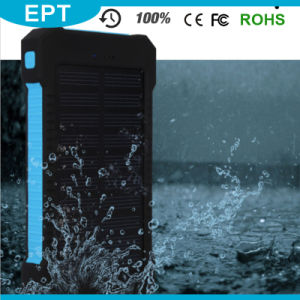 Flashligh Ipx6 Waterproof Solar 10000mAh Solar Power Bank (NP-004) pictures & photos