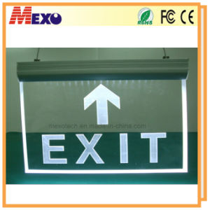 Hanging LED Edge-Lit Exit Acrylic Sign Board pictures & photos