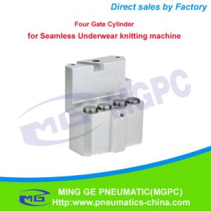 Pneumatic Four Gate Cylinder for Seamless Underwear Knitting Machine