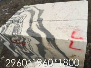 Jiangsu Quarry Panda White Marble Slabs, Black and White Marble pictures & photos
