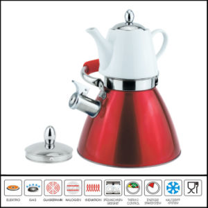 Double Whistle Kettle with Ceramic Tea Pot Multi-Functional Kettle pictures & photos