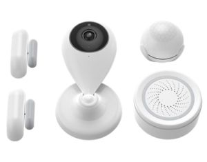with Door Sensor, Motion Sensor Siren Alarm IP Camera Tuya Smart Life Home  Kit
