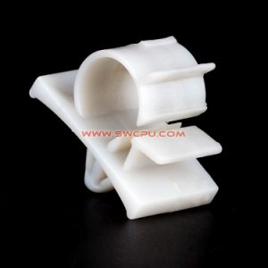 OEM Pipe Holder Fittings U Shape PVC Plastic Double Clamp / C Shape Clip pictures & photos