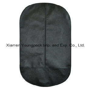 Oval Shape Black Non-Woven Suit Garment Cover Bag pictures & photos