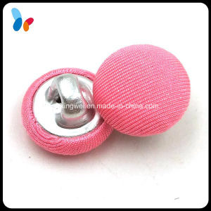 Custom Pink Fabric Covered Button Metal Shank Button