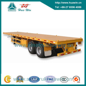 2-Axle Flatbed Container Semi Trailer pictures & photos